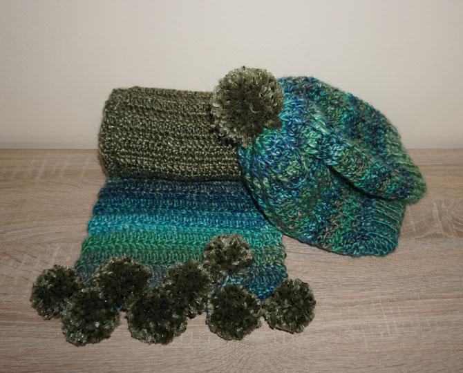 Дълъг шал и шапка Lazur