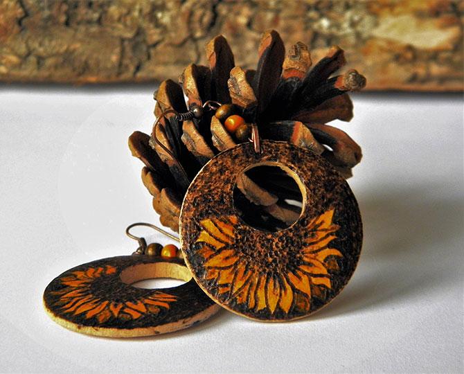 Обеци Sunflower